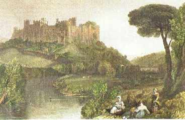 A painting of Ludlow Castle by JMW Turner